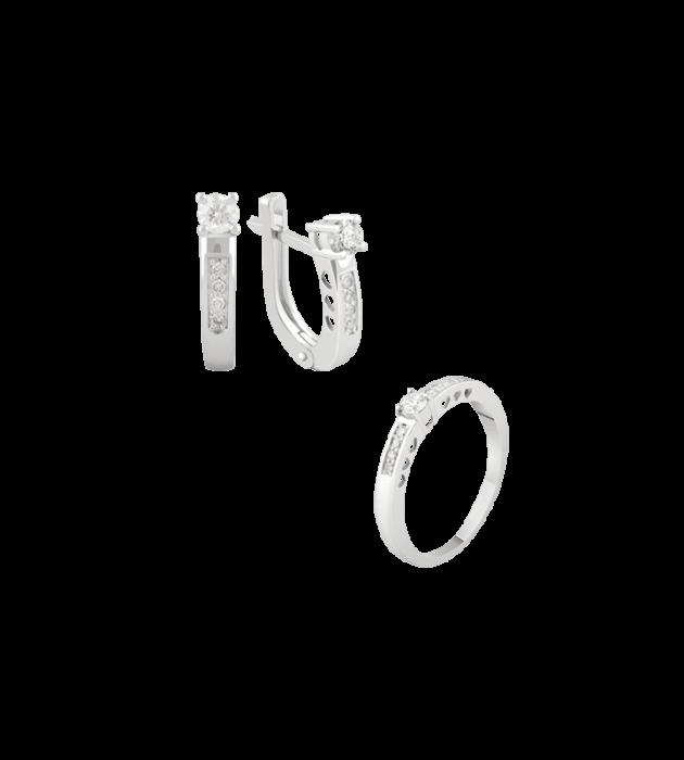 ЗОЛОТОЙ ГАРНИТУР С БРИЛЛИАНТАМИ — Г0121