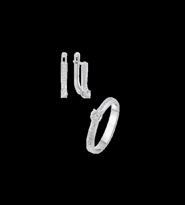 ЗОЛОТИЙ ГАРНІТУР З ДІАМАНТАМИ — Г0179