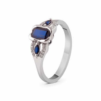 GOLD RING WITH SAPPHIRES AND DIAMONDS — К1865