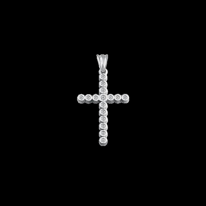 ЗОЛОТИЙ ХРЕСТИК З ДІАМАНТАМИ - П091