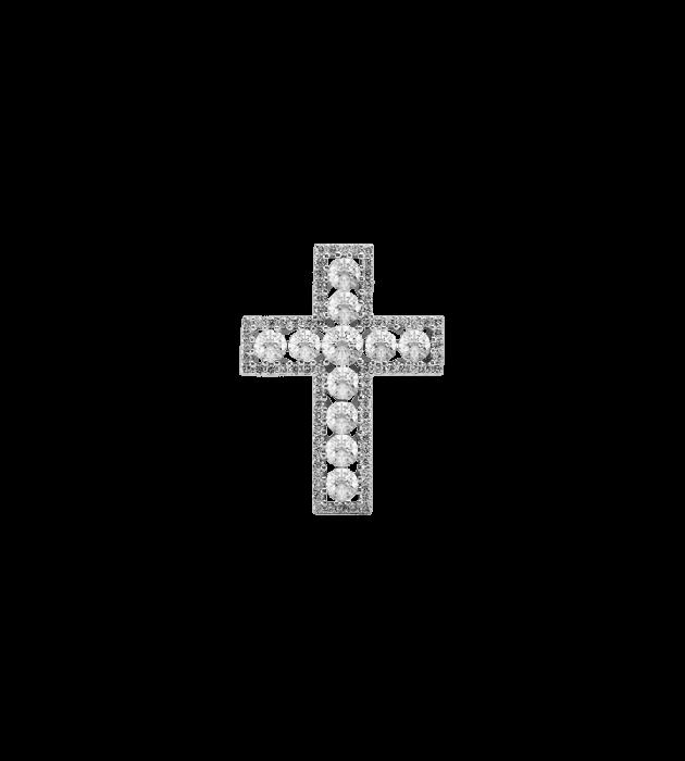 ЗОЛОТИЙ ХРЕСТИК З ДІАМАНТАМИ — П219