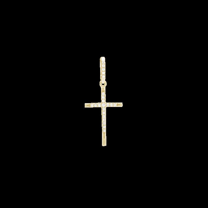 ЗОЛОТОЙ КРЕСТИК С БРИЛЛИАНТАМИ — П313
