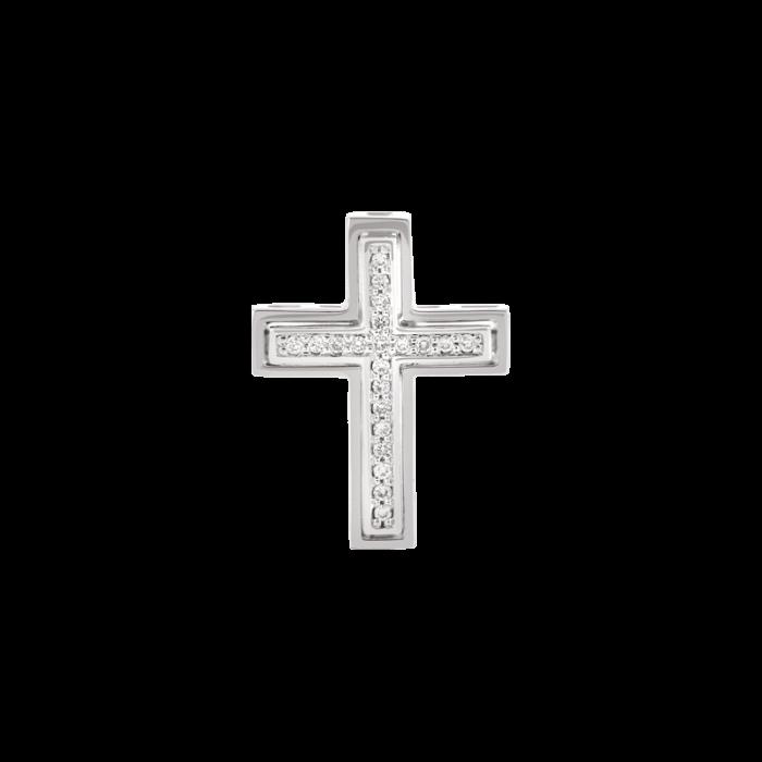 ЗОЛОТОЙ КРЕСТИК С БРИЛЛИАНТАМИ — П180