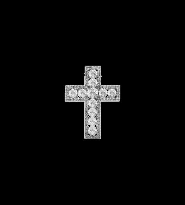 ЗОЛОТОЙ КРЕСТИК С БРИЛЛИАНТАМИ — П219