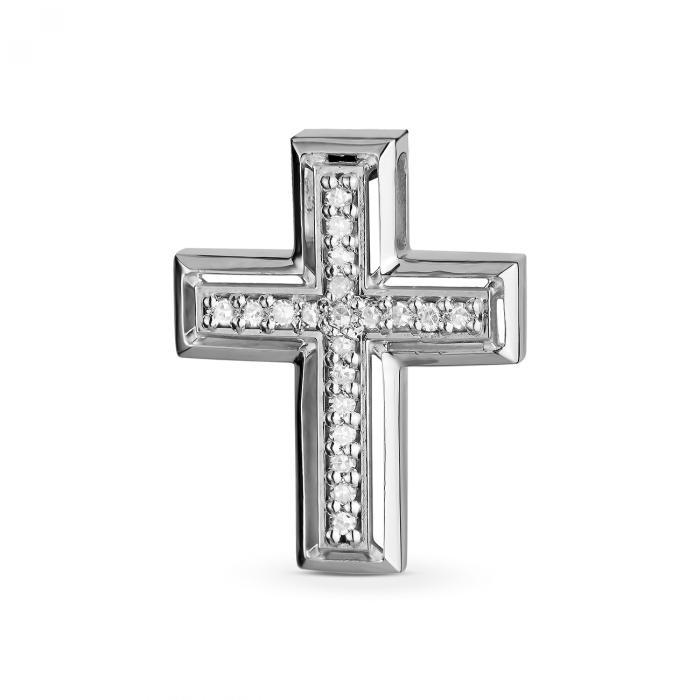 ЗОЛОТИЙ ХРЕСТИК З ДІАМАНТАМИ - ПМ0007